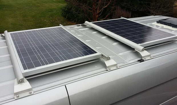 Tab to mount solar panel to 8020 (TM) cross bars