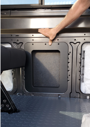 Wall Insert Panel with Built in Box for Ford Transit