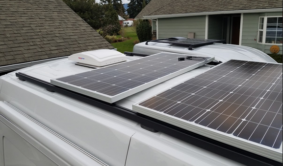 Ford Transit or Promaster 8020 rail mounting kit for solar panels
