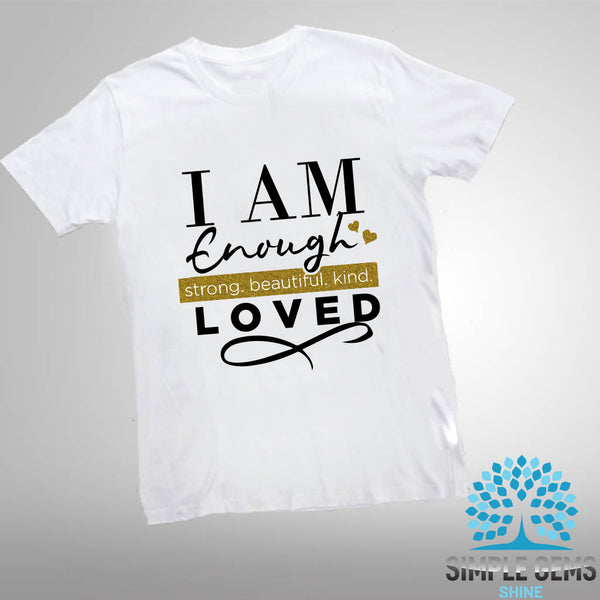 I am enough kids T-shirts