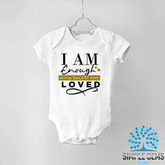 I am enough kids Bodysuit or T-shirts