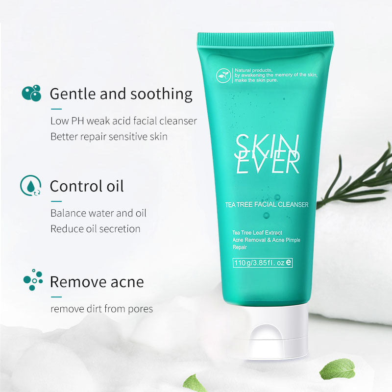 SKIN EVER Acne Treatment Tea Tree Facial Cleanser T1502   Lookhealthystore