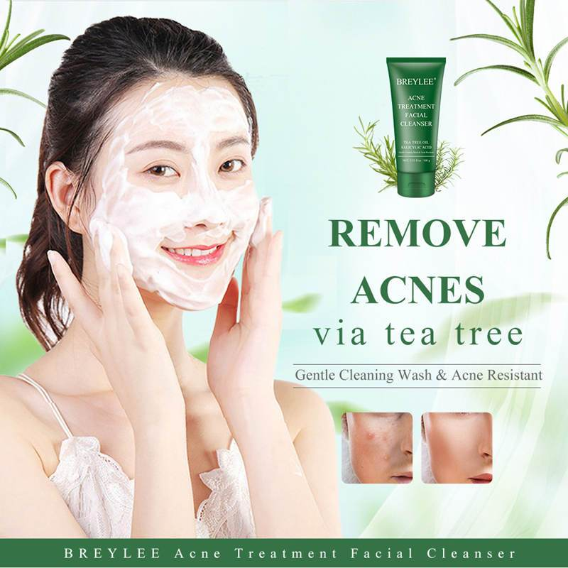 BREYLEE Tea Tree Acne Treatment Facial Cleanser T236 - Lookhealthystore