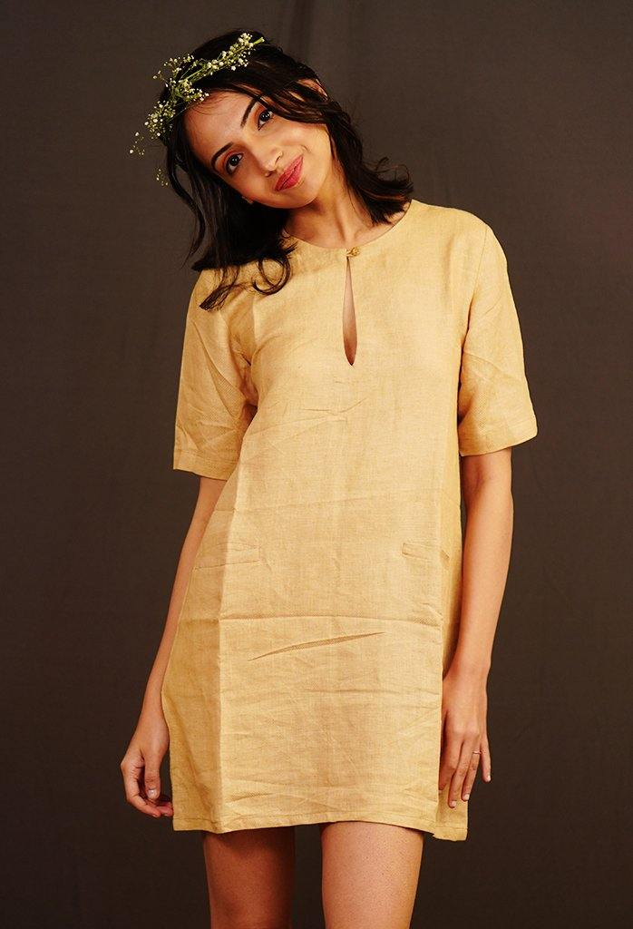 Key Hole Dress - Nude - Hemis
