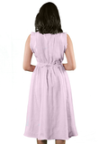 Ziba Gathered Dress with Embroided Belt