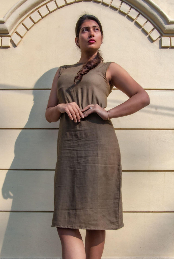 Markle Straight Dress - Olive - Hemis