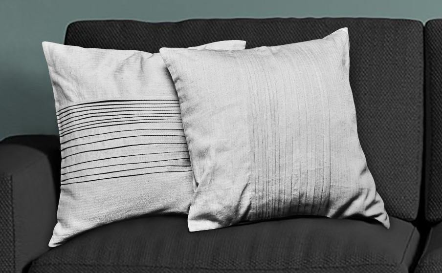 Meraki Reversible Pin Tuck Cushion Cover - set of 2 - Hemis