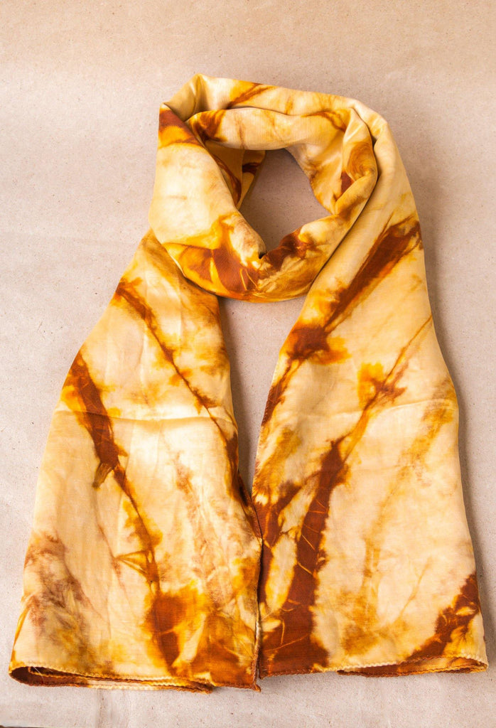 Tie and Dye Hemp Silk Scarf
