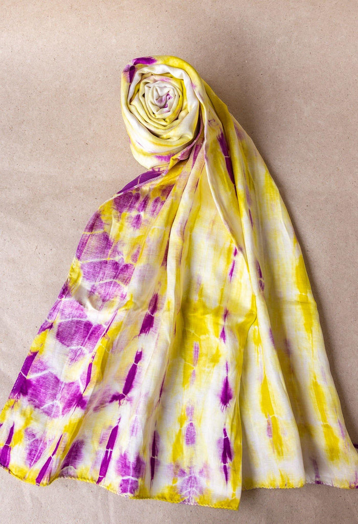 Tie and Dye Hemp Silk Scarf - Hemis