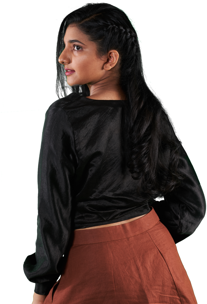 Asraar Layered blooom sleeve top - Hemis