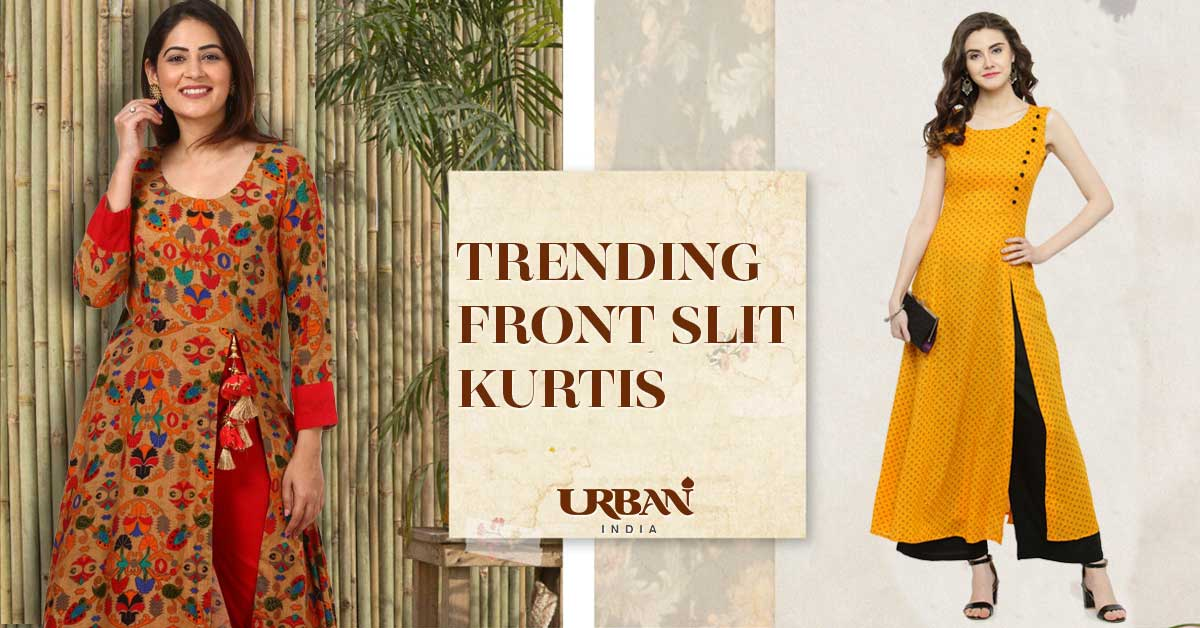 Latest Trending Front Cut Kurtis for Casual & Party Wear