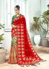 Red Color Banarasi Art Silk Party Wear Saree