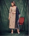 Peach Puff Color Venice Silk Kurti With Dupatta And Inner