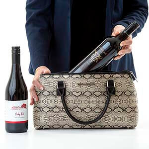 Cynthia Cool Clutch (Black/Cream Snake Skin) Wine Cooler bag