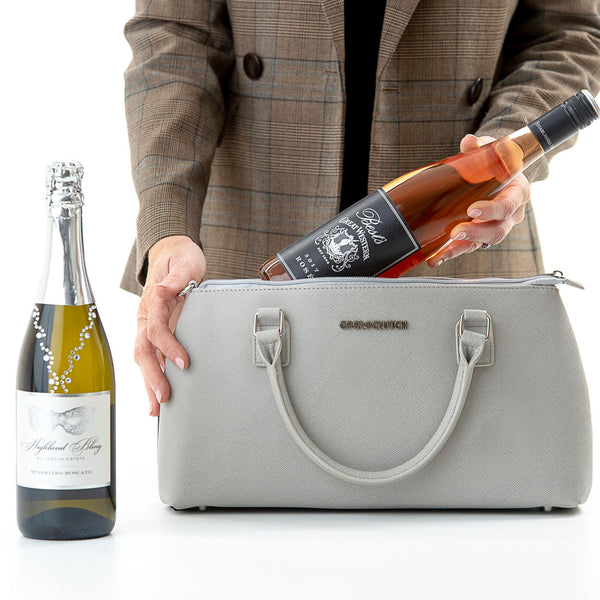 Dorrie Cool Clutch (Grey) Cooler bags - Cool Clutch cooler bag handbag insulated wine lunch handbags