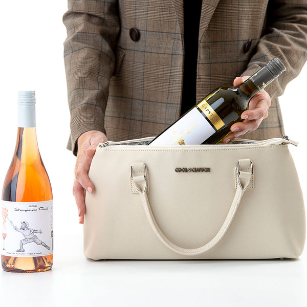 Milla Cool Clutch (Cream) Cooler bags - Cool Clutch cooler bag handbag insulated wine lunch handbags