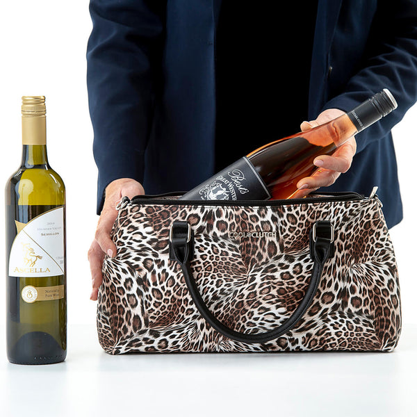 Yvonne Cool Clutch (Leopard) Cooler bags - Cool Clutch cooler bag handbag insulated wine lunch handbags