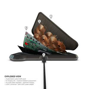 ZENS Liberty 16 coil Dual Wireless Charger (Fabric) + gift