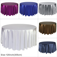 Load image into Gallery viewer, Round Tablecloth - SATIN 132""