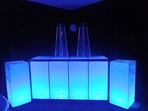 ( 2 pcs ) Led Acrylic Lighted BAR 7'  &  Bar Back  Plexiglass