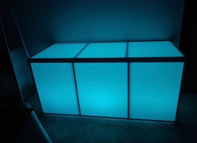 Led Acrylic Lighted BUFFET BAR 6' - multiple colors (Changing Colors)