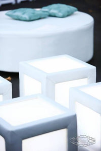 LED Lighted Tufted Cube  (Changing Colors)