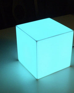 "Led Acrylic lighted Cube 20""x20""   (Changing Colors)"