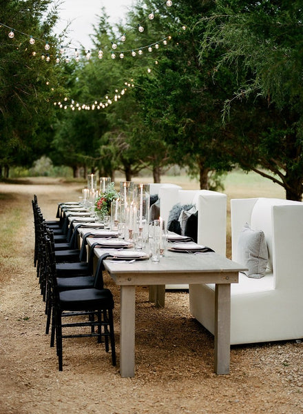 White Distress RUSTIC TABLE 8'