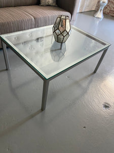 Silver METAL Coffee Table SQUARE