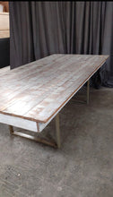 Load image into Gallery viewer, White Distress RUSTIC TABLE 8'