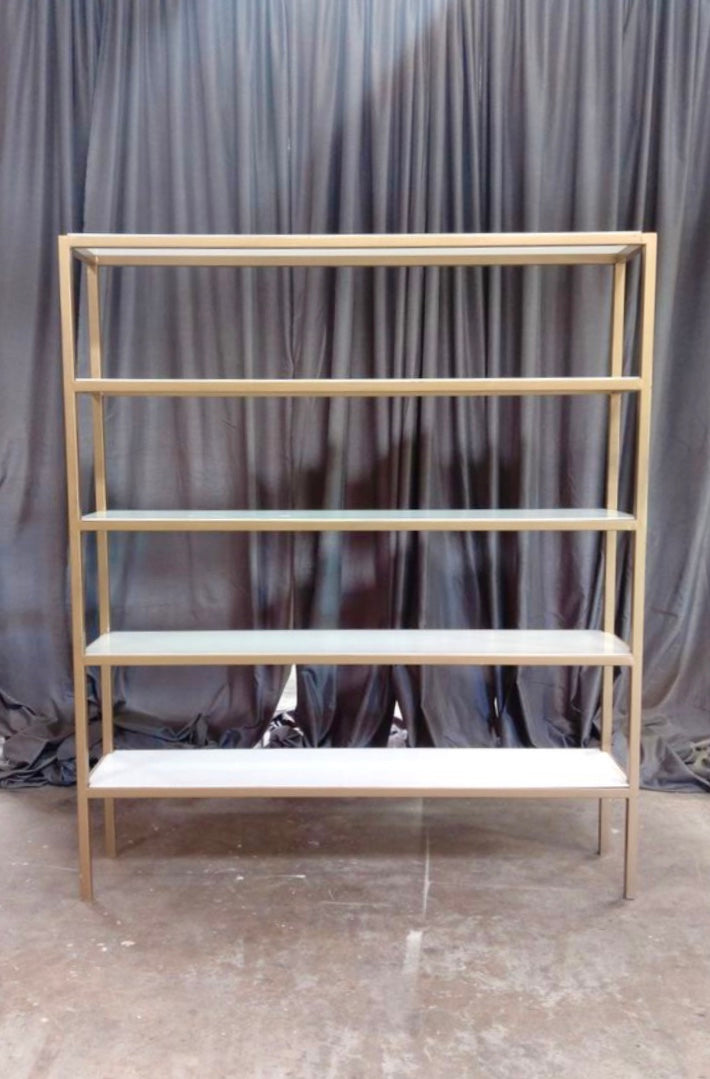 GOLD BAR Back w/ Acrylic Shelf  7'x6'