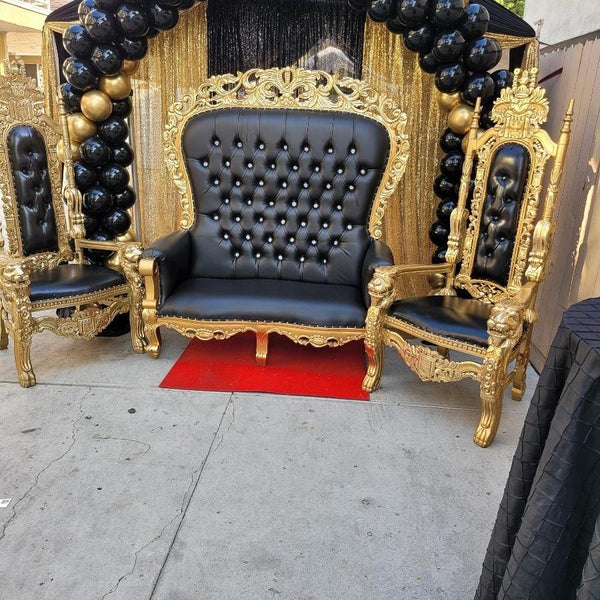 Double THRONE Black & Gold