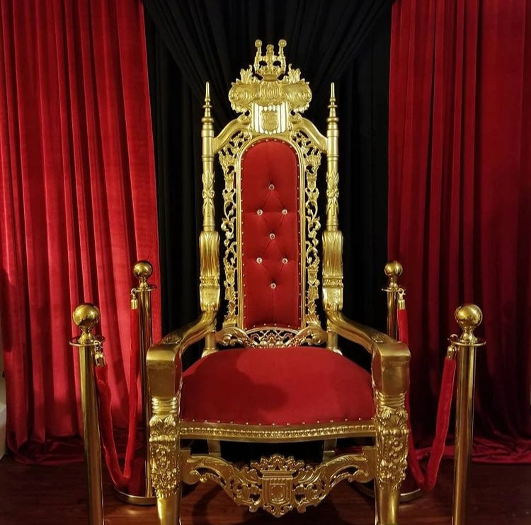 Single THRONE Red & Gold