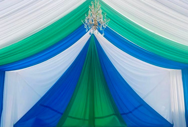 TENT with DRAPING  20X20 & Chandelier