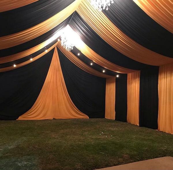 TENT with DRAPING  10X50 & Chandelier