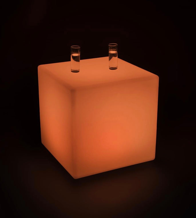 "LED CUBE / Lighted CUBE 16"" x 16"" (Changing Colors)"