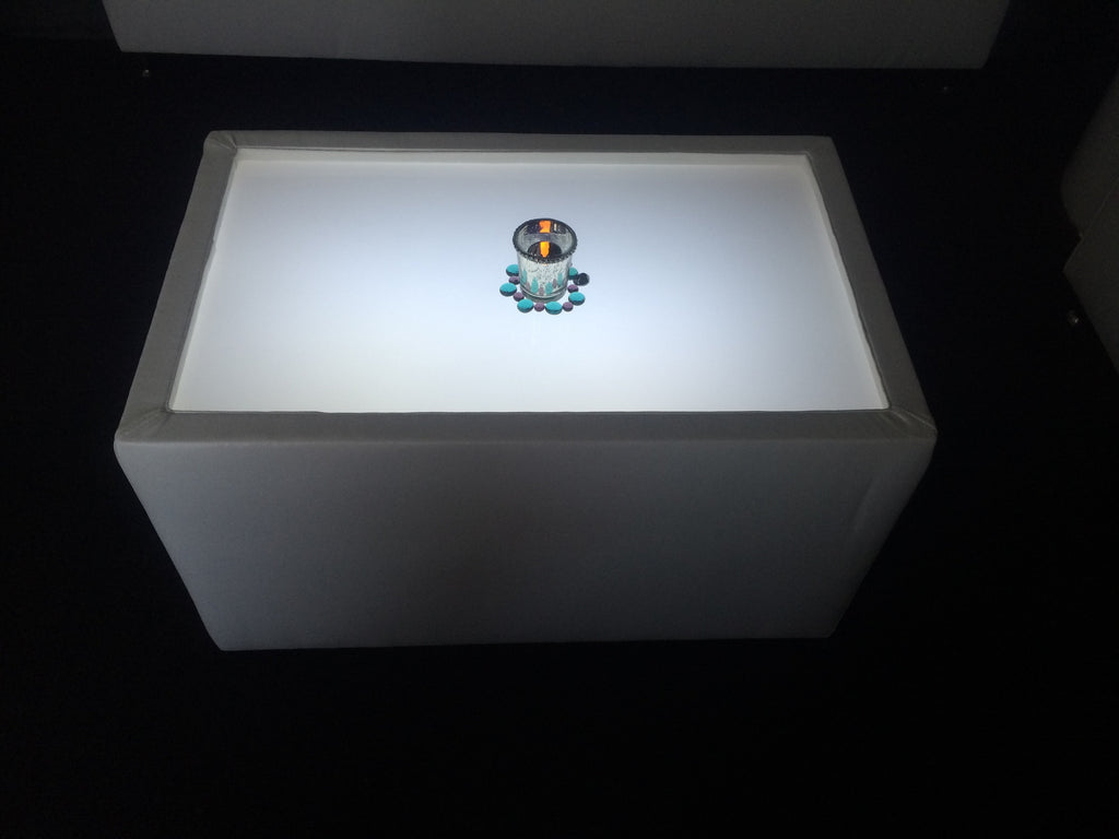 $45    LED Lighted RECTANGULAR TABLE - led coffee table