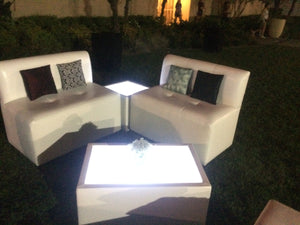 LED Lighted RECTANGULAR TABLE - coffee table / end table   (Changing Colors)