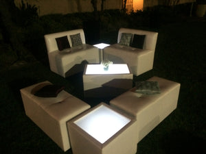 LED Lighted SQUARE TABLE - coffee table / end table    (Changing Colors)