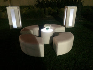 Led Tufted Lighted Cocktail Table  (Changing Colors)