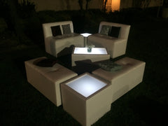 LED Lighted SQUARE TABLE - led coffee table