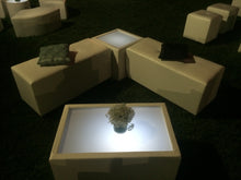 Load image into Gallery viewer, LED Lighted RECTANGULAR TABLE - coffee table / end table   (Changing Colors)