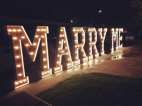 MARRY ME Sign 4'