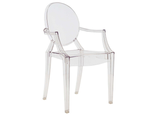 Louis Ghost Chair - Casper Arm clear Chair