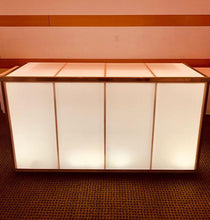 Load image into Gallery viewer, LED Acrylic Lighted BAR 6' x 4' - multiple colors Plexiglass (Changing Colors)