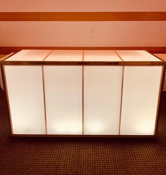 LED Acrylic Lighted BAR 6' x 4' - multiple colors Plexiglass (Changing Colors)