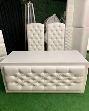 Load image into Gallery viewer, Tufted High Back Chair / Tufted BRIDE & GROOM Chair / THRONE  / XV Throne / Sweet16 Throne