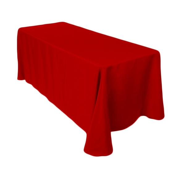 "Tablecloth 8"" RED  (156""x90"")"