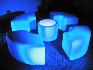 LED Lighted ROUND TABLE - coffee table / end table   (Changing Colors)