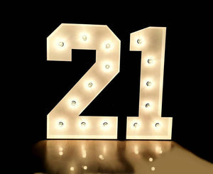 LIGHTED Marquee Numbers 4'